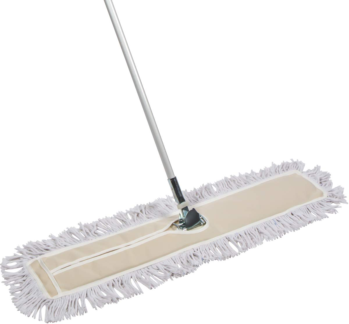 Tidy Tools 35 Inch Industrial Strength Cotton Dust Mop with Metal Telescopic Handle and Frame. 35'' X 5'' Wide Mop Head with Cut Ends - Hardwood Floor Broom