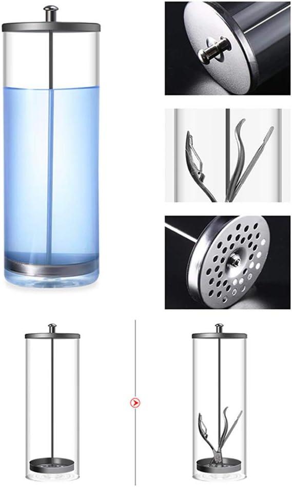 Koowaa Professional Salon Barber Disinfection Jar Sterilization Container Sanitizer Glass Manicure Disinfection Cup Shaving Factory Professional Grade Disinfecting Jar