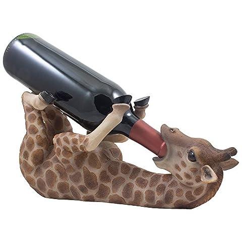 Drinking Giraffe Wine Bottle Holder Statue in African Jungle Safari Sculptures and Figurines Decor & Wildlife Animal…