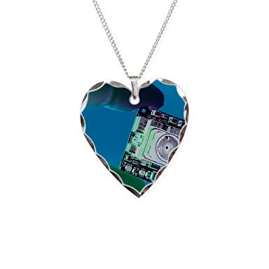 Amazon cafepress miniature spy camera charm necklace with cafepress miniature spy camera charm necklace with heart pendant mozeypictures Image collections