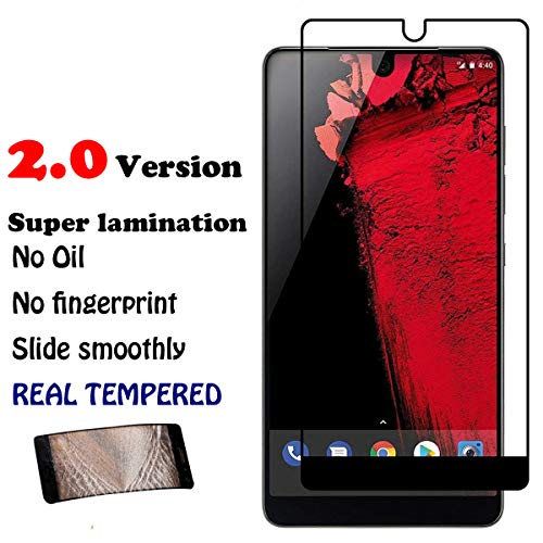[2.0 New Ver.] Fully Covered for Essential Phone/Marval.P Premium Essential Phone PH-1 Tempered Glass, Screen Protector, Anti-Scratch Oil Fingerprint Crystal Clear 9H 0.2mm HD