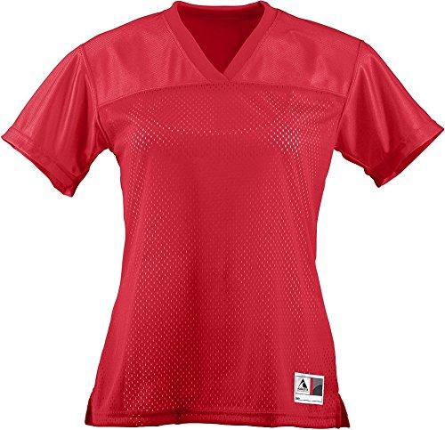Augusta Sportswear Womens Junior Fit Replica Football Tee, Red, X-Large by Augusta Sportswear