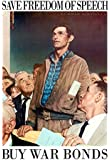Norman Rockwell Save Freedom of Speech WWII War Propaganda Art Print Poster 13 x 19in