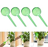 OWIKAR Automatic Watering Bulbs, 10 Pack Aqua Globes Small Plant Automatic Self Watering PVC Bulbs Ball Garden Waterer Self Irrigate Device for Indoor Outdoor (S/Green)