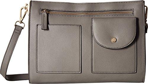 Steve Madden Women's Pocket Crossbody Grey One Size (Steve Madden Woman Bags)