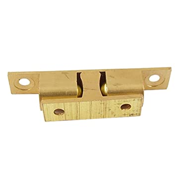 Amazing Solid Brass Cabinet Door Double Ball Latch Catch 67mm Gold Tone