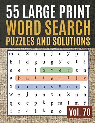 55 Large Print Word Search Puzzles and Solutions: Activity Book for Adults and kids   Large Print Word Search Puzzles to Keep Your Child Entertained for Hours (Find Words for Adults & Seniors)]()