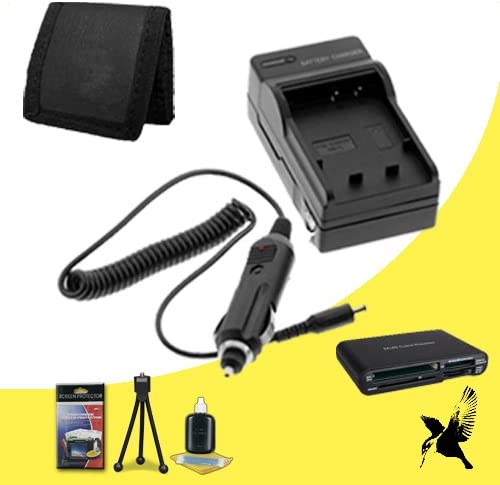 Memory Card Wallet Deluxe Starter Kit/ for Canon EOS M Halcyon Brand 600 mAH Charger with Car Charger Attachment Kit Canon Rebel SL1 Digital SLR Cameras and Canon LP-E12 SDHC Card USB Reader