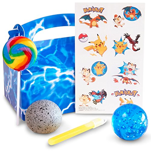 Pokemon Party Supplies - Filled Party Supplies - Filled Favor Boxes (4) - Party City Ash Costume