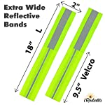 iRadiates Reflective Bands Reflector Running Gear – Adjustable Reflective Armband Arm Wrist Ankle Leg Band – Reflective Tape Strap for Clothing Biking and Safety Night Walking for Men and Woman