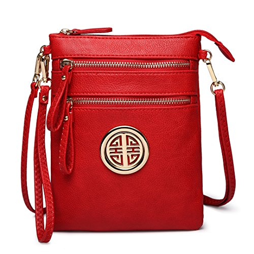 Miss Lulu Fashion Leisure Crossbody Shoulder Pouch Bag for Women Girls 1417 Red