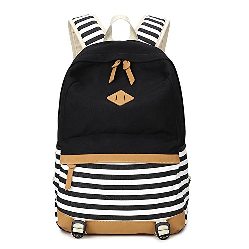 f5dbd66adcd3 Fresion Canvas Backpack School Bag Women Men Casual Daypack ...