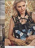 MAGAZINE AD 2 PG With Chloe Grace Moretz For 2015 Coach Patchwork Handbags