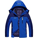 Sawadikaa Men's Outdoor Windproof Mountain Fleece 3 in 1 Ski Snow Jacket Coat Softshell Windbreaker Insulated Jacket