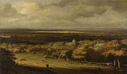 Oil Painting 'Philips Koninck An Extensive Landscape' 24 x 41 inch / 61 x 104 cm , on High Definition HD canvas prints is for Gifts And Dining Room, Living Room And Powder Room Decoration