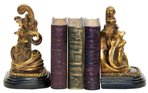 Sterling Home 91-1458 Pair of Bookends, Tuscan Scroll, 7-1/4-Inch Tall by Sterling Home