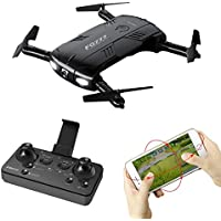 Gbell RC Aircraft Foldable Quadcopter FQ777 FQ05 6-Axis Gyro 2.0MP Wifi Fpv Drone Camera SelfieTwo Battery for Kids,Adults