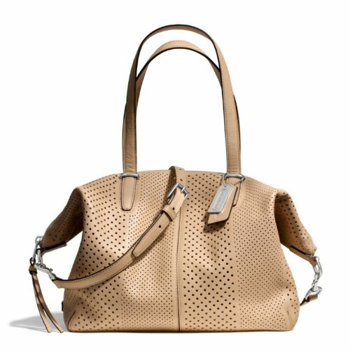 Coach Perforated Leather Bag - 7