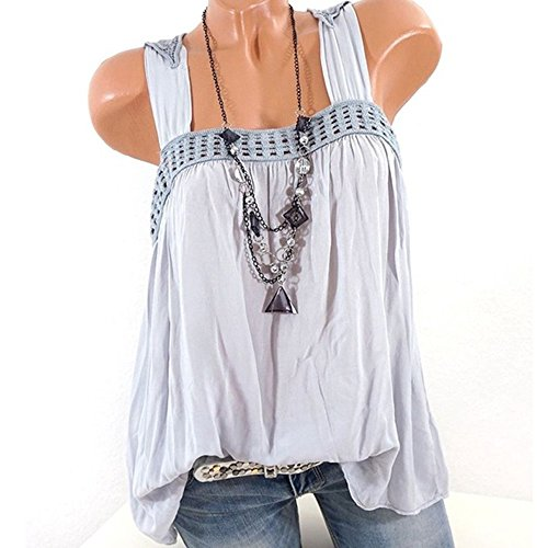 Beaded Lace Camisole (BODOAO Women Camisole Slash Neck Lace Printed Plus Size Tops Loose T-Shirt Blouse)