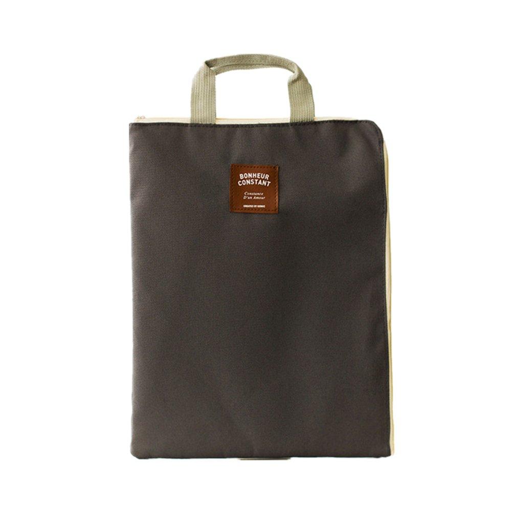 milopon portadocumentos A4, cart/ón malet/ín//–/Funda Multi Funci/ón archivo Storage Bag bolsillos cremallera del paquete iPad Bolsa, color azul 35.5*27.5cm