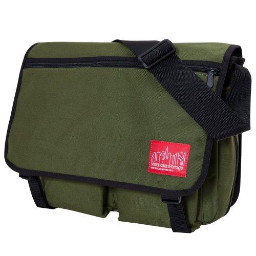 Manhattan Portage Luggage - Manhattan Portage Europa with Back Zipper, Olive, One Size