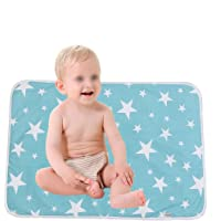 Ultra-soft Large Washable Baby Changing Pad Mats Baby Cotton Urine Mat Diaper Nappy Bedding Changing Cover Pad…