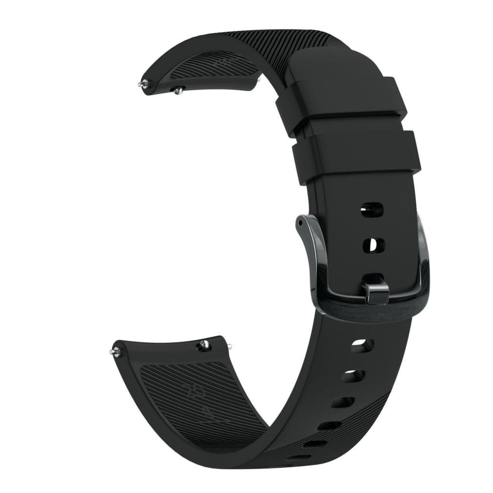 Outsta for Huami Amazfit Bip Youth Watch Band, Soft Silicon Accessory Wirstband Smart Watch Bracelet Band Women Men Multicolor (Black) by Outsta (Image #1)