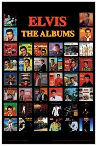 Elvis Presley Album Covers Music Poster 24x36 inch - Elvis Presley Album Covers