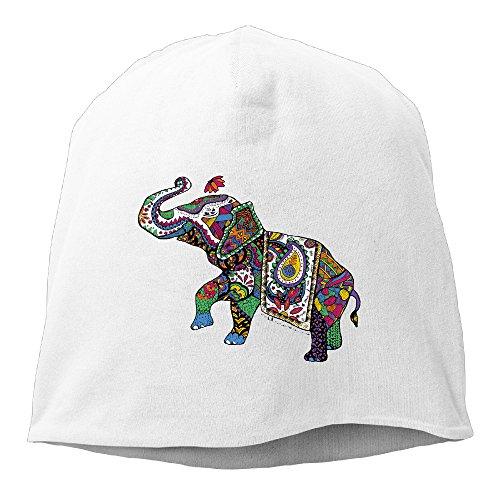 [Caryonom Adult Cute India Treasure Elephant Beanies Skull Ski Cap Hat White] (Tom Arma Flower Costume)
