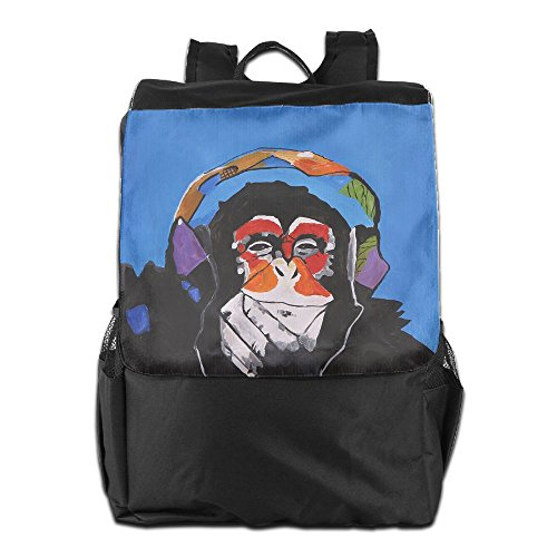 ZGZGZ Funny Gorilla With Headset Outdoor&travel&sports Shoulder Bags For Man And Woman (Handbag Winged Heart)