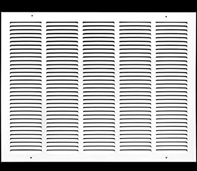 """25""""w X 25""""h Steel Return Air Grilles - Sidewall and Ceiling - HVAC Duct Cover - White [Outer Dimensions: 26.75""""w X 26.75""""h]"""