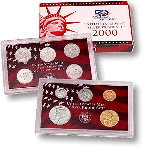 (2000 S United States Mint Silver Proof Set w State Quarters Gem Uncirculated)
