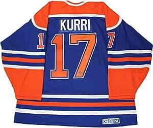 Jari Kurri Signed Edmonton Oilers Replica Jersey (Frozen Pond Auth)