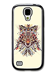 Abstract Wolf Illustration On White Background carcasa de Samsung Galaxy S4 mini A3489
