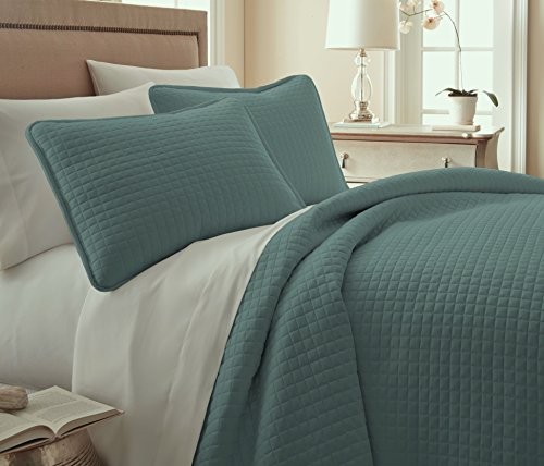 Southshore Fine Linens 3 Piece Oversized Quilt Sets (Queen, Steel Blue) (Blue Quilt Sets)