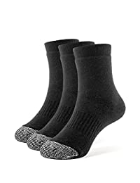 Galiva Girls' Cotton Extra Soft Quarter Cushion Socks - 3 Pairs