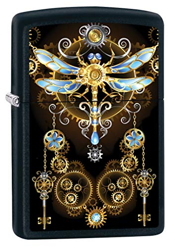 (Zippo Lighter: Steampunk Dragonfly - Black Matte 79992)