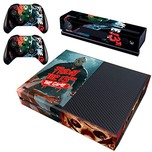 Decal Moments Regular Xbox One Skin Set Vinyl Decal Skin Stickers Protective for Xbox One Console Kinect 2 Controllers Halloween