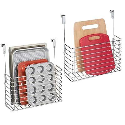 mDesign Metal Over Cabinet Hanging Kitchen Storage Basket