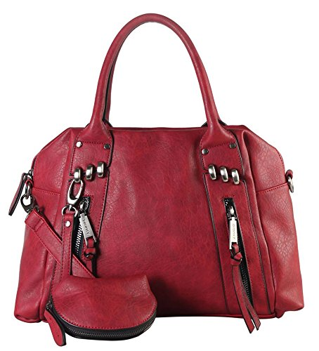 diophy-double-front-zipper-tote-bag-with-one-detachable-coin-pouch-cz-3720