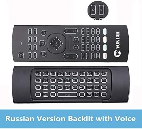 Calvas Genuine Color: RU Voice and Backlit Calvas 2.4GHz Wireless Backlit Mini Keyboard MX3 Pro Air mouse IR Learning Mode Remote Control For PC Android TV Box -