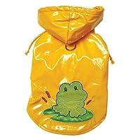Klippo Pet Happy Frog Dog Raincoat Size: X-Small