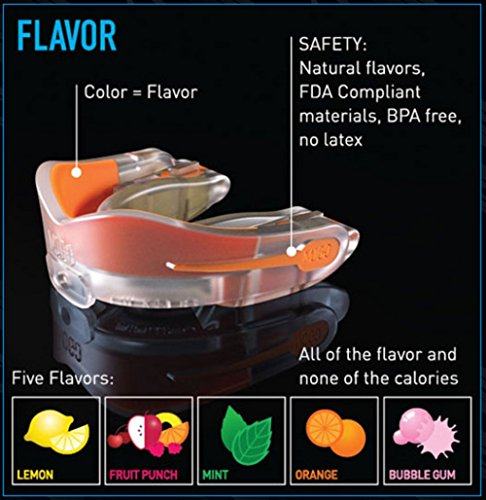 MOGO. Flavored 2 Pack Mouth Guards - Adult Sports Mouthguard for Ages 11 and Up - Mouthpiece for MMA, Football and Lacrosse - Tether Strap, Fitting Instructions and Carry Case (Strawberry Lemonade) by MOGO. (Image #3)