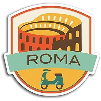 2 X 10 Cm Roma Italia Italia pegatina de vinilo portátil de viaje en coche etiqueta de equipaje # 9842