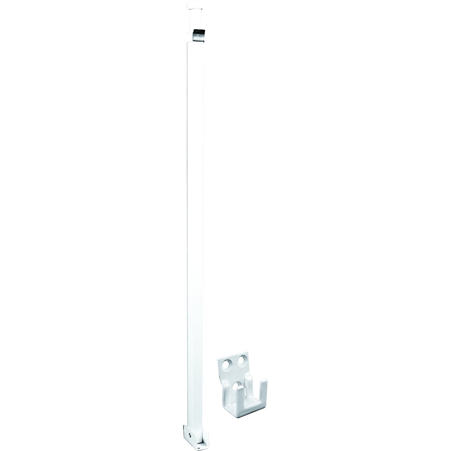 Defender Security U 9921 Security Bar For Sliding Patio Doors, Adjustable, Aluminum Construction With White Finish, Pack of 1 by Prime-Line Products (Image #1)