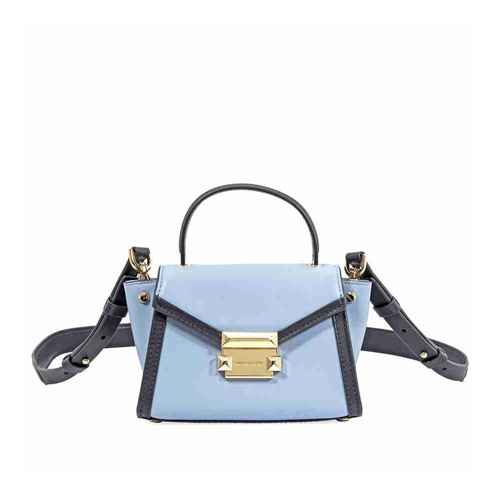 a9bbc190eb4d Amazon.com  Michael Kors Whitney Medium Messenger Bag- Pale Blue Admiral   Shoes