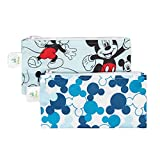 Bumkins Disney Baby Reusable Snack Bag, Mickey Classic/Mickey Icon, Small, 2 Count