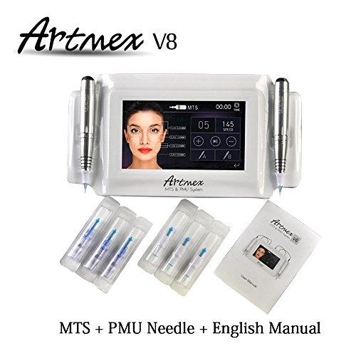 Miss Ammy 2017 Newest Permanent Makeup Tattoo Machine Eye Brow Lip Rotary Dr Pen With 10Pcs Micro Tattoo Needles Mts Pmu System Artmex V8 Tattoo Machine