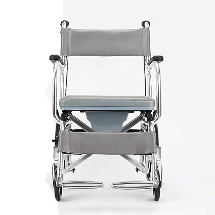 Shisky Silla de Ruedas de aleación de Aluminio Carro Plegable portátil para Personas Mayores multifunción portátil