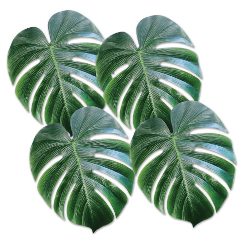 Price comparison product image Beistle 54556 Tropical Palm Leaves, 13-Inch, 4 Count